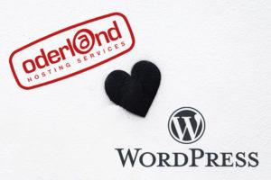 Oderland logga hjärta Wordpress logga