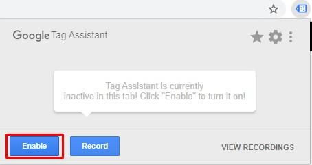 Tag assistant starta